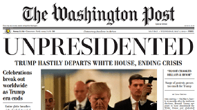 "Edición falsa de ""The Washington Post"" anuncia la renuncia de Trump"
